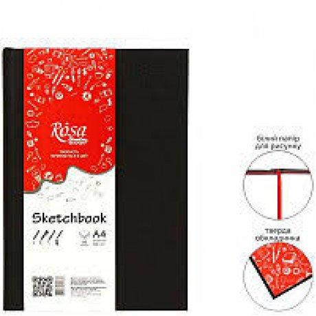 Блокнот A5 (14,8 * 21см), 100г / м, 96л., Черный, ROSA Studio