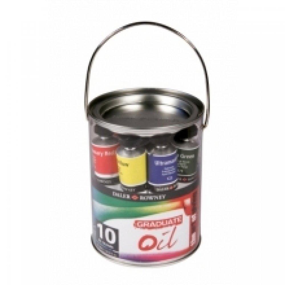 Набор масляных красок, Oil Pot, 10 * 38 мл, пластиковая банка, DR