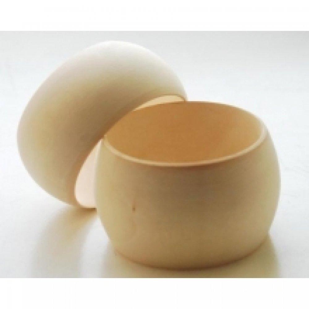 Браслет деревянный круглый, 85*65 мм, ширина 50 мм