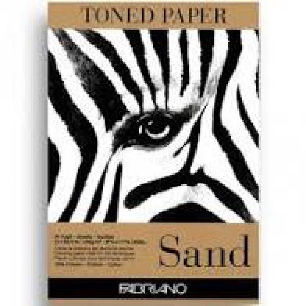 Альбом для эскизов Sand А4 (21х29,7 см) 120 г / м.кв. 50 листов крафт бумаги склейка Fabriano Италия