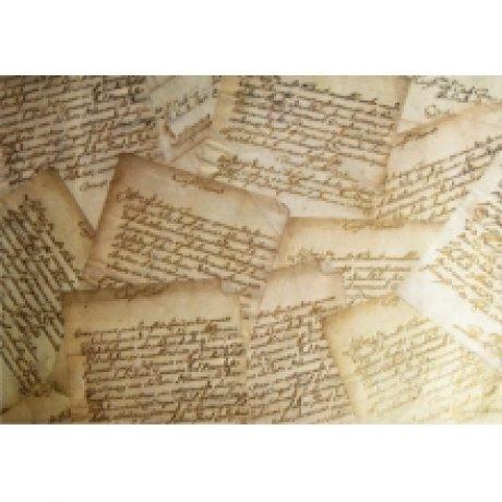 Бумага для декупажа с метал.эфектом, Письма, 35х50 см