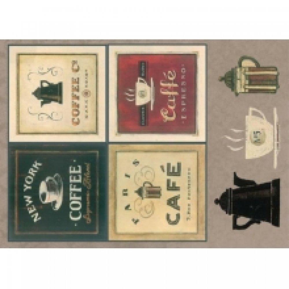 Бумага для декупажа, Кофейная коллекция, 21*29,7см, 45г/м2