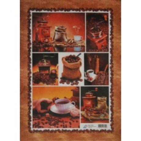 Бумага для декупажа, Кофе 1, 40*30см, 60г/м2, 04698