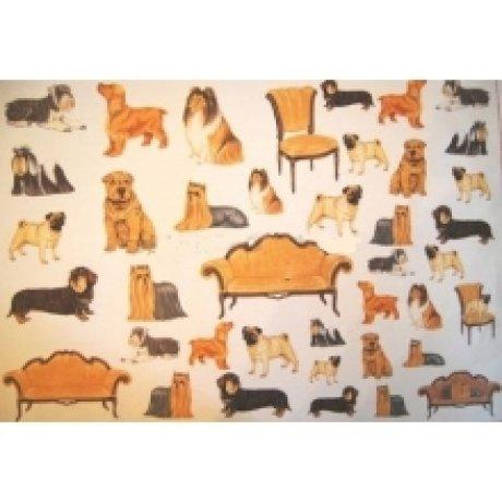 Бумага для декупажа, Декоративные собачки, 50*70см, 99012