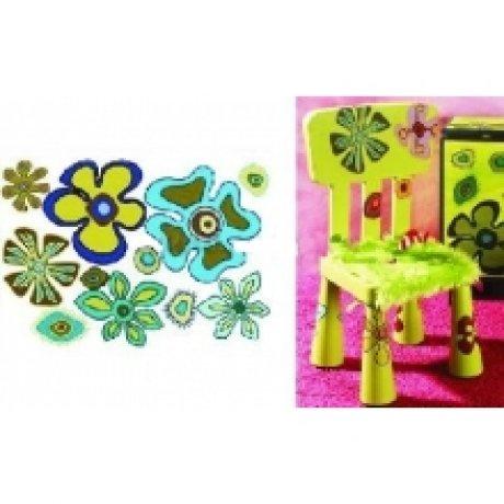 Бумага для декупажа, Детский мотив:цветочки, 50*70см, 99035