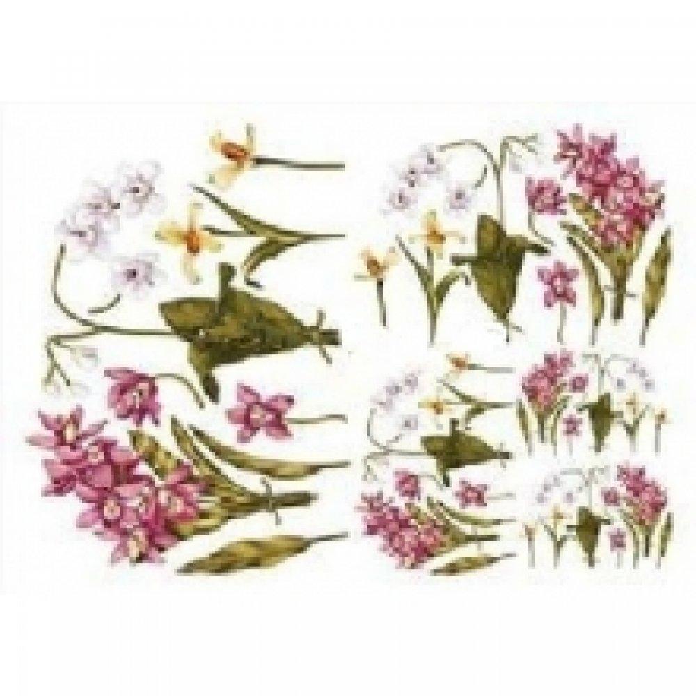 Бумага для декупажа, Орхидеи, 50*70см, 90710