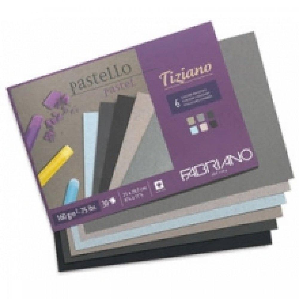 Cклейка для пастели Tiziano A4 (21х29,7см), 160г/м2, 30л, холодные цвета, Fabriano