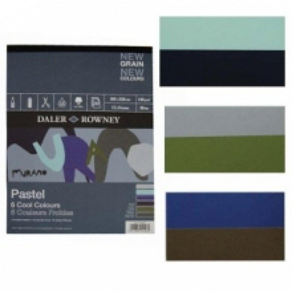 Склейка для пастели Murano-Cool A4 (22,8*30,5см) 160г/м2, 30л, холодные цвета, Daler-Rowney