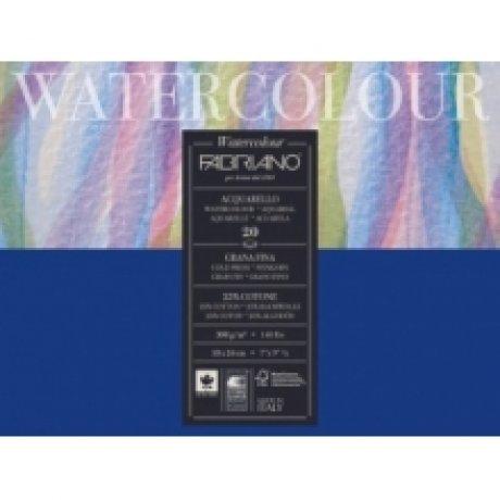 Альбом для акварели Watercolour 30х40 см 200 г / м.кв. 20 листов склейка с 4 сторон Fabriano