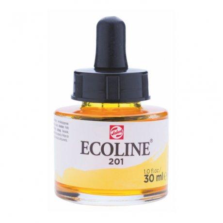 Фарба акварельна рідка Ecoline (201), Жовта світла, 30 мл, Royal Talens