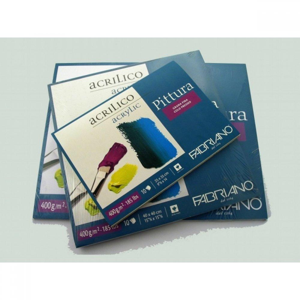 Альбом для акриловой живописи Pittura 40х50 см 400 г / м.кв. 10 листов Fabriano