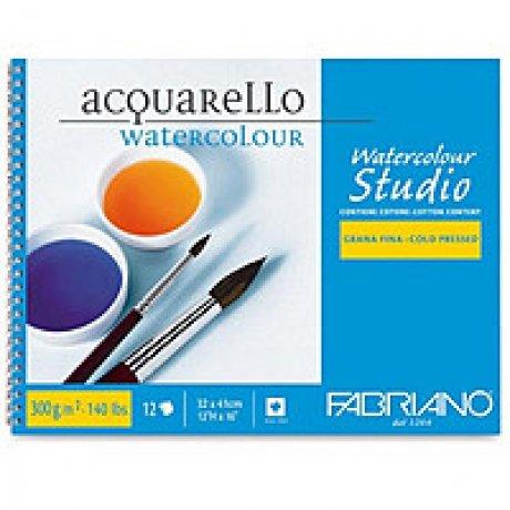 Альбом для акварели Watercolour 24х32 см 300 г / м.кв 12 листов на спирали Fabriano