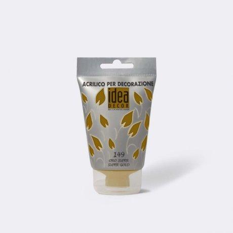 Акрилова фарба Idea Decor 110мл 149 золото супер Maimeri