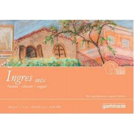 Альбом для пастели GAMMA Ingres 22,5 x 32,5 160г / м 15лист cenere (проклейка 1бок)