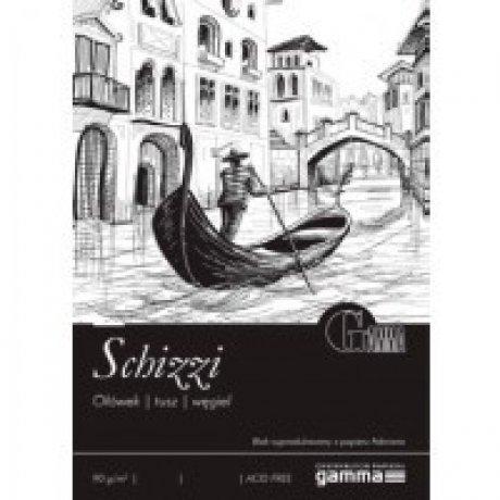 Cклейка для рисования GAMMA Schizzi 29,7 x 42 50л 90г / м (проклийка 1бик)