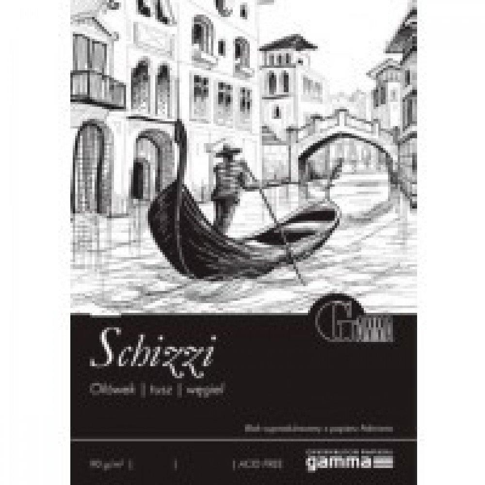 Cклейка для рисования GAMMA Schizzi 21 x 29,7 100л 90г / м (проклийка 1бик)