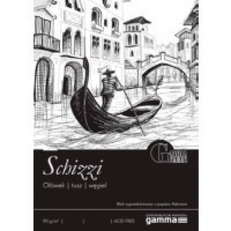 Cклейка для рисования GAMMA Schizzi 14,8 x 21 50л 90г / м (проклийка 1бик)