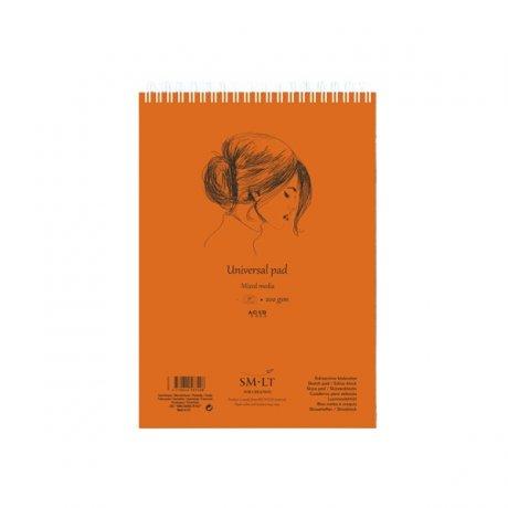 Альбом на спіралі AUTHENTIC (mixed media) А4, 200г/м2, 40л, білий колір, SMILTAINIS