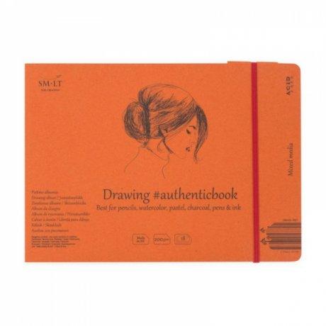 Альбом AUTHENTIC (mixed media) А5 (24,5 * 17,6см,) 200г / м2, 18л, белый цвет, SMILTAINIS