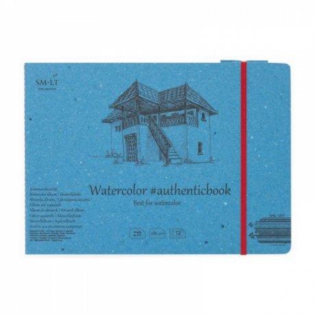 Альбом для акварели AUTHENTIC А5 (24,5 * 17,6см), 280г / м2, 12л, SMILTAINIS