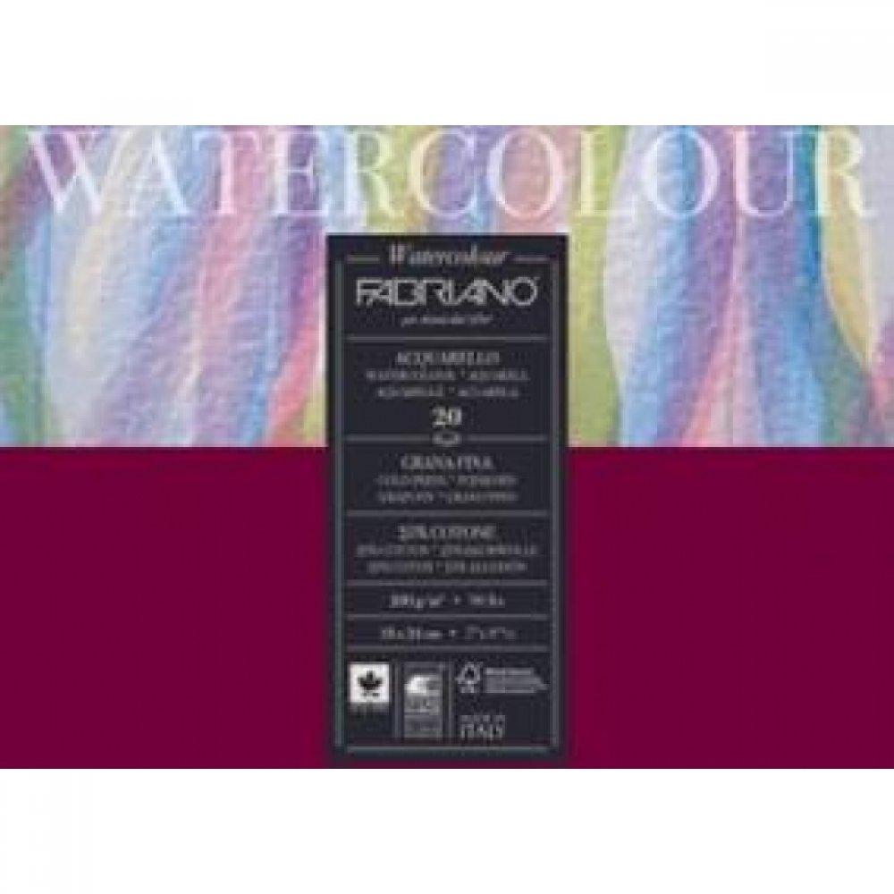 Альбом для акварели Watercolour 36х48 см 200 г / м.кв. 20 листов склейка с 4 сторон Fabriano