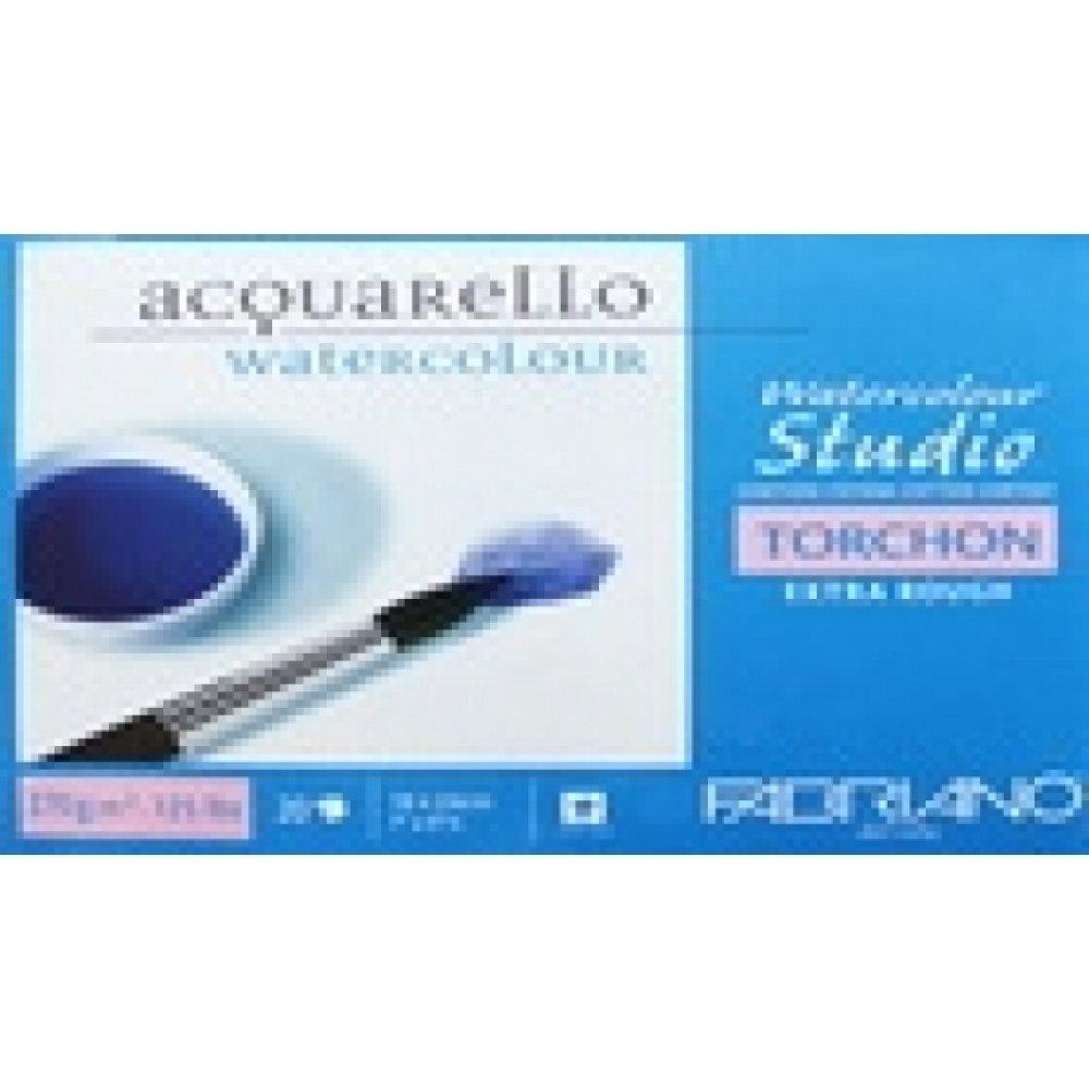 Альбом для акварели Watercolour Studio Torchon 18х24 см 270 г / м.кв. 20 листов склейка с 4 сторон Fabriano
