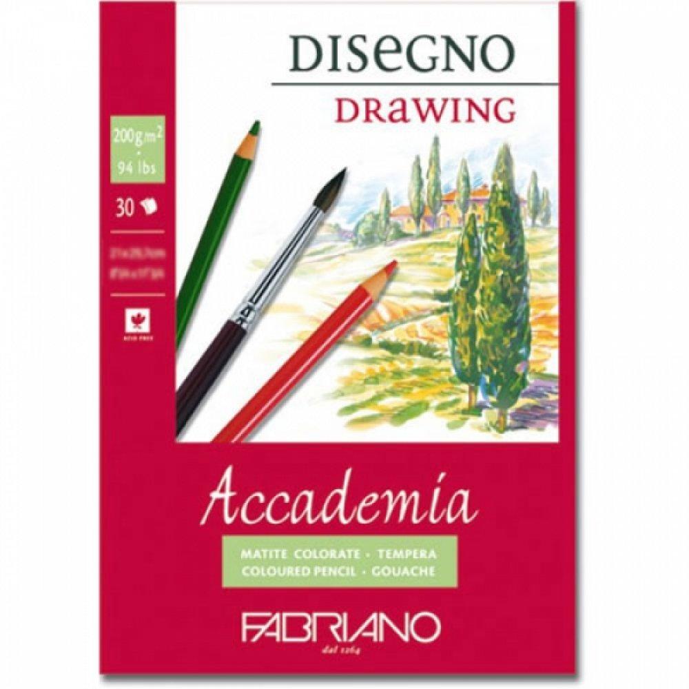 Альбом для влажных техник склейка Accademia А2 (42х59,4 см) 200 г / м.кв. 30 листов Fabriano