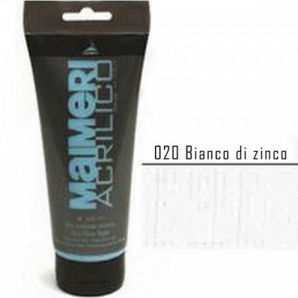 Акрилова фарба Acrilico 75 мл білила цинкові Maimeri