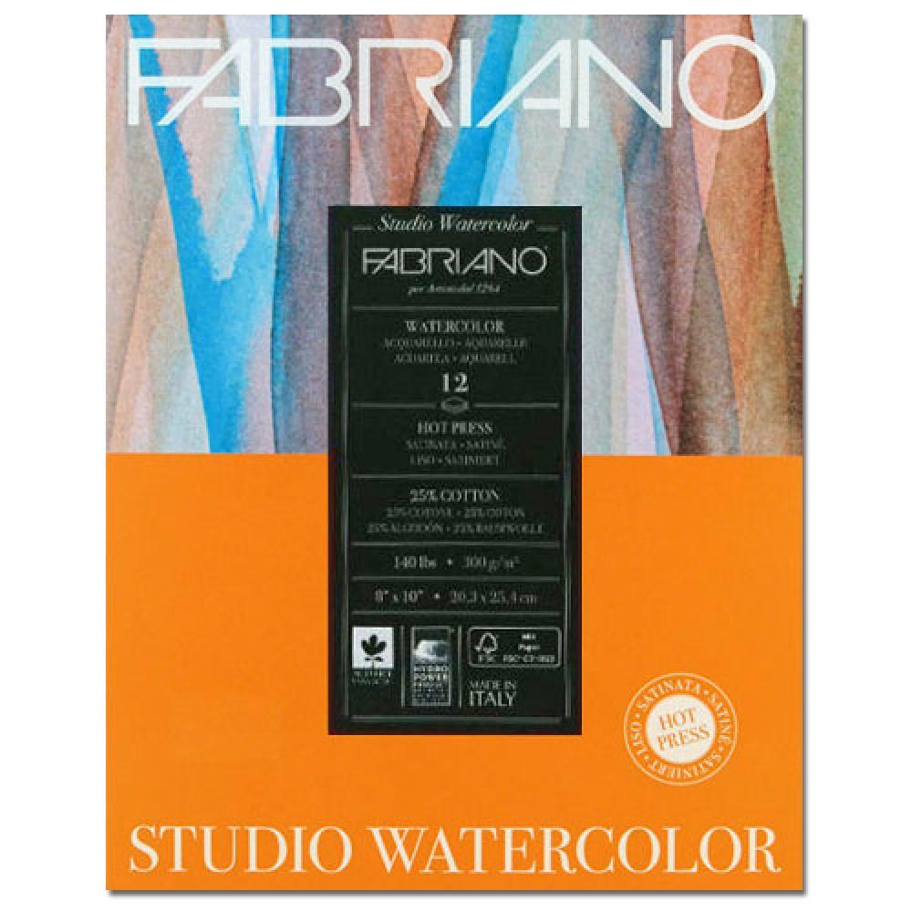 Альбом для акварели Studio 28х35,6 см 300 г / м.кв. 12 листов Fabriano